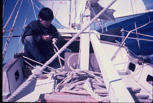 Preparing for sea anchor